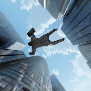 Man falling into the Abyss - dreamstime_67159930