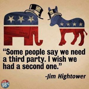 We need a second political party