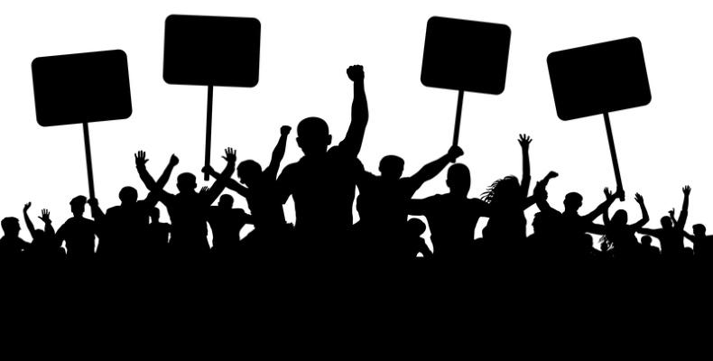 Mob protest - dreamstime_111755862