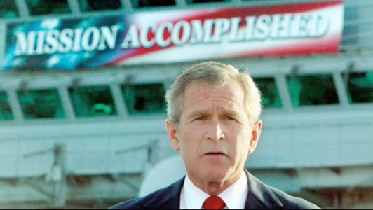 George W. Bush declares mission accomplished