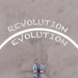 Choose Evolution or Revolution - dreamstime_86092871
