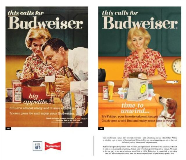 Budweiser ads - in the 1950s and now