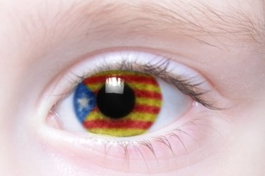 Eye with a Catalonian flag in it.