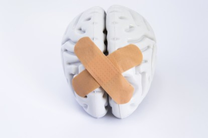 Taped together brain - Dreamstime_115370099