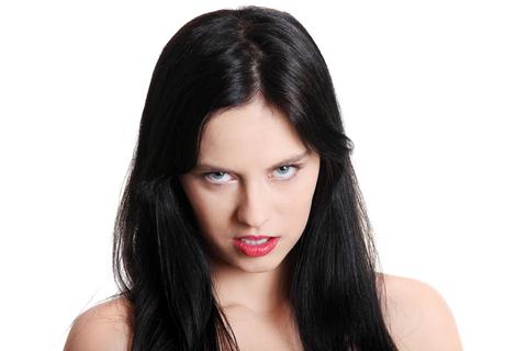 Angry teenage girl.