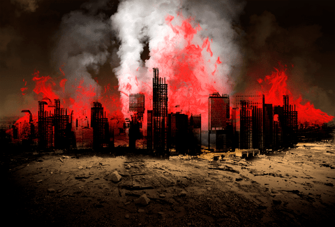 Burning City - Dreamstime-46822273