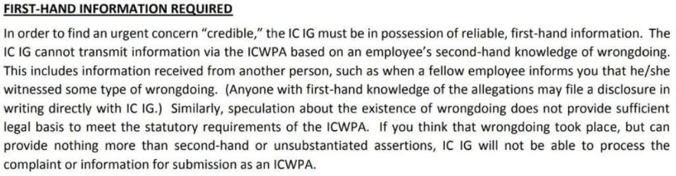 Excerpt from instructions for ICWPA form 401