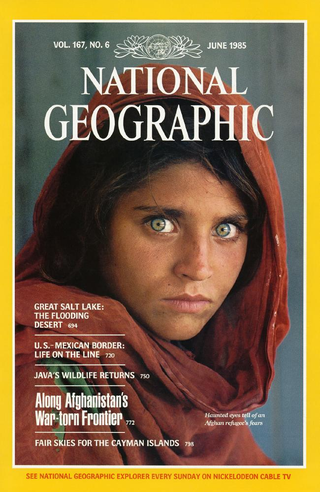 Sharbat Gula in National Geographic, June 1985