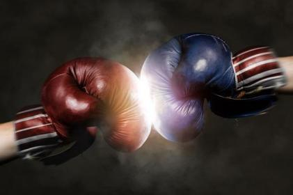 Democrats and Republicans Boxing - Dreamstime-81958892