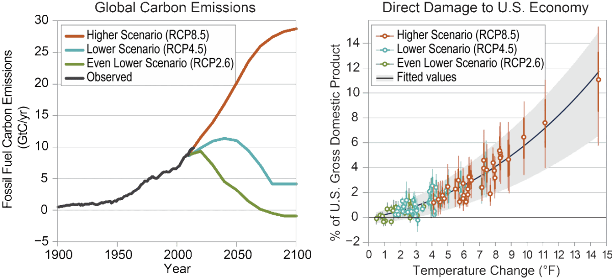 Global CO2 Emissions - Damage to the US Economy
