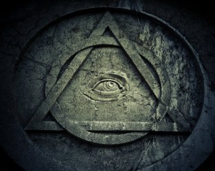 Our new national symbol: an all-seeing eye in a circle and triangle