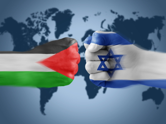 israel x Palestine in fighting flags
