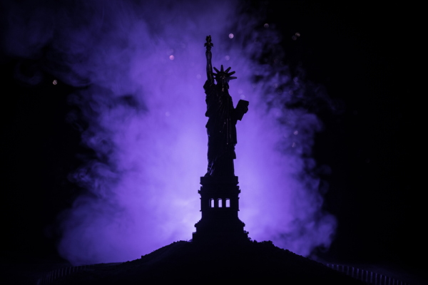 Statue of Liberty In Darkness - Dreamstime-127501202