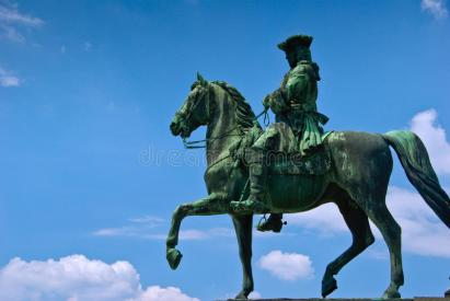 Statue of a Soldier on Horseback in Vienna