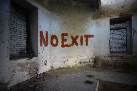 There is no exit. By luzitanija, AdobeStock - 87536846.
