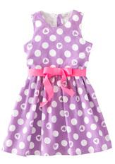 Purple Heart Print Dress