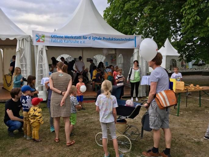 Das FabLab-Zelt beim Wissenschaftsfestival EFFEKTE 2019 in Karlsruhe