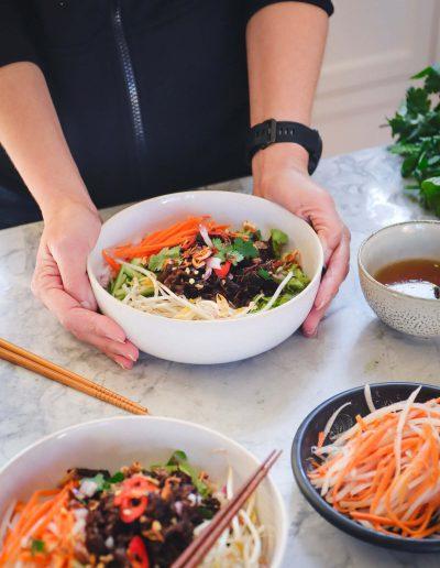 Vietnamese Lemongrass Vermicelli Salad