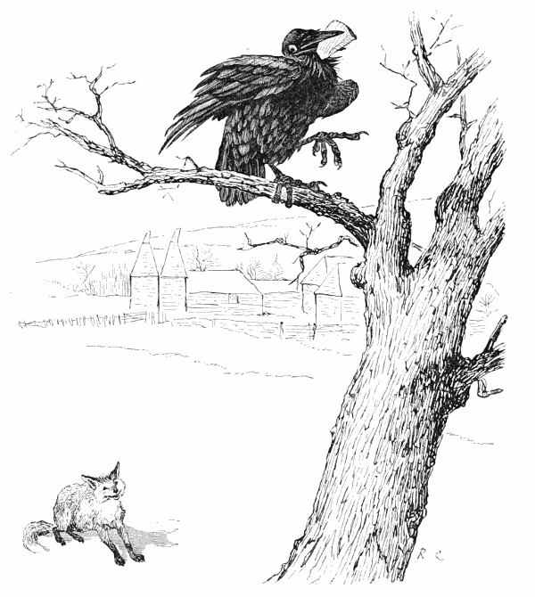 Fox And Fables Crow Aesops