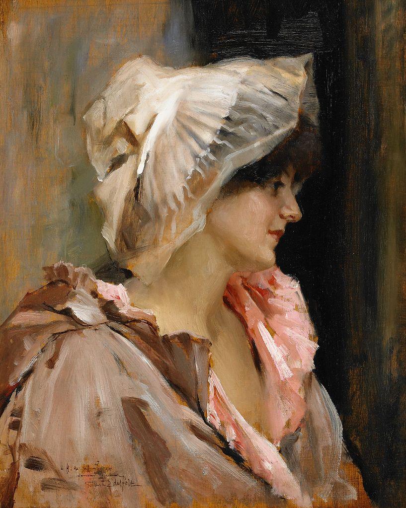 Parisian lady in a Peignoir