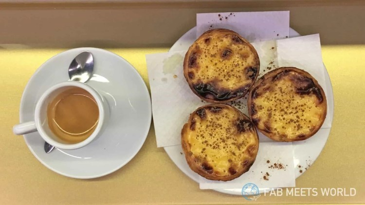 The pasteis de nata from Manteigaria are really tasty