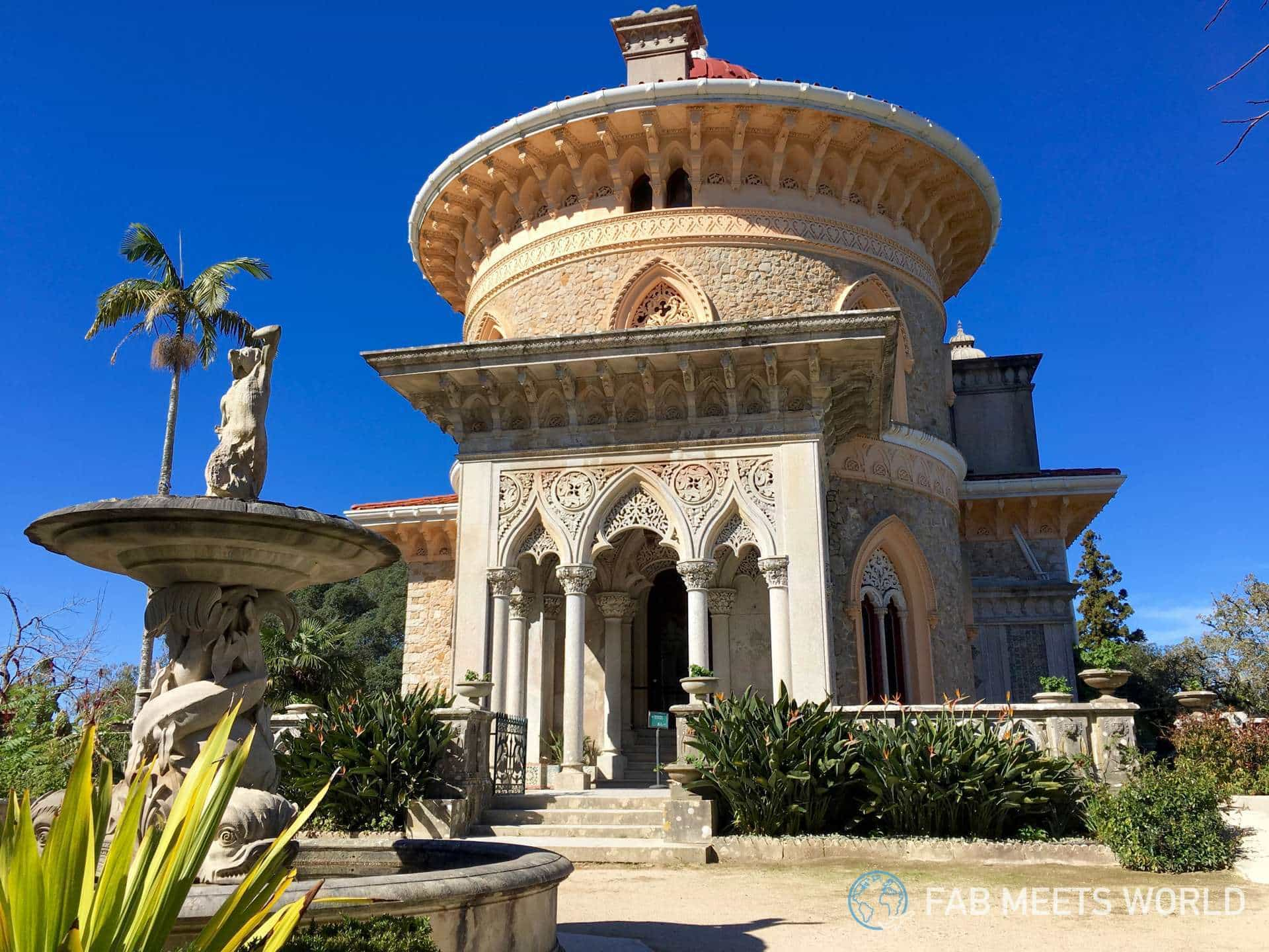 Monserrat palace has design gothic, Moorish and Indian influences
