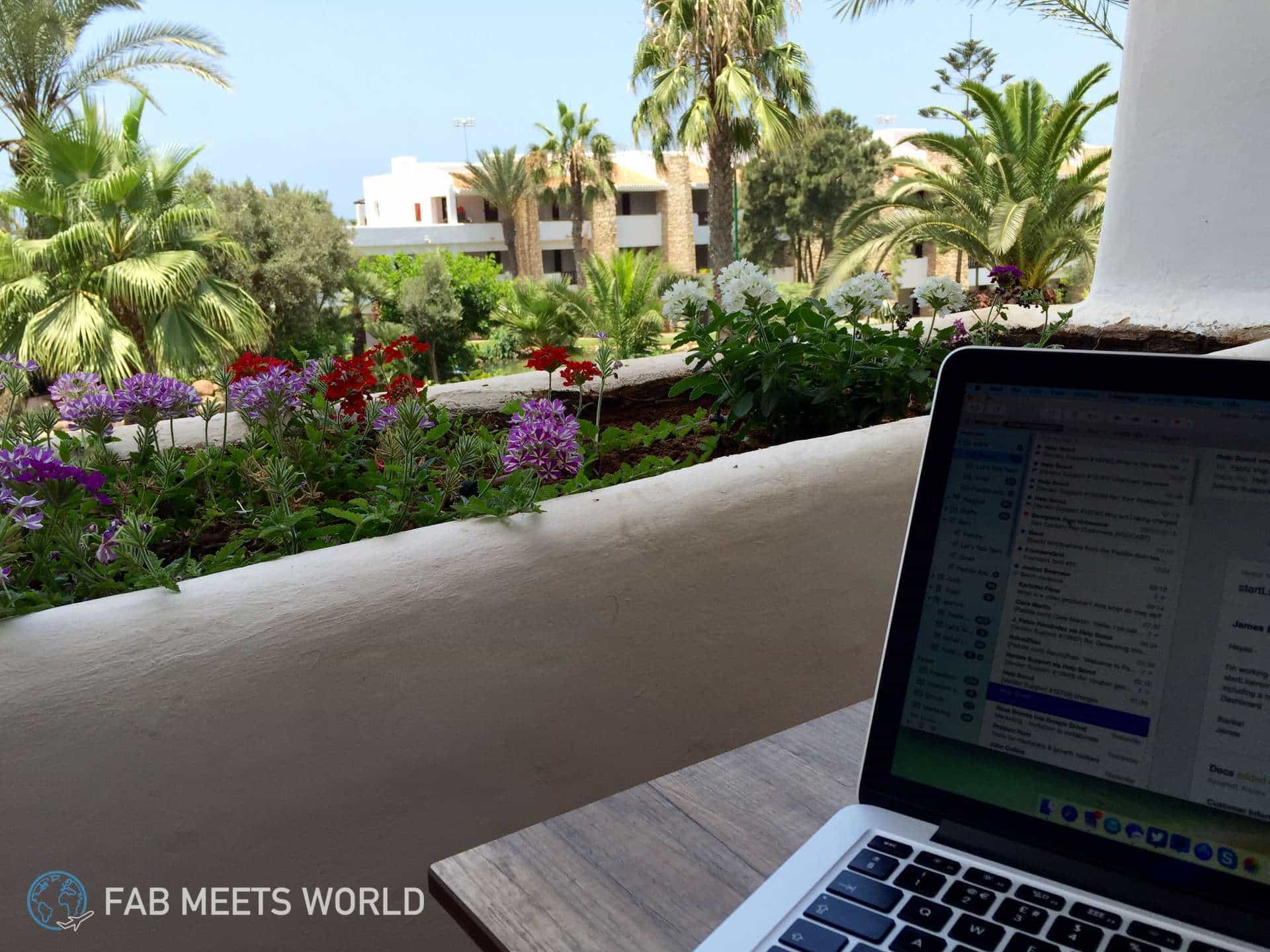 MacBook-Agadir-Morocco-Working
