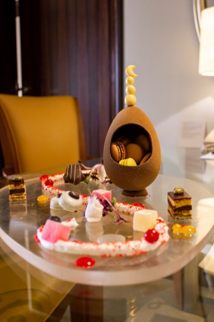 The Ritz-Carlton Abu Dhabi left us an assortment of sweets in our Executive Suite