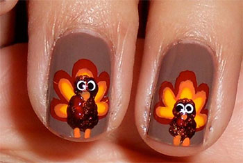 Adorable Turkey Nails