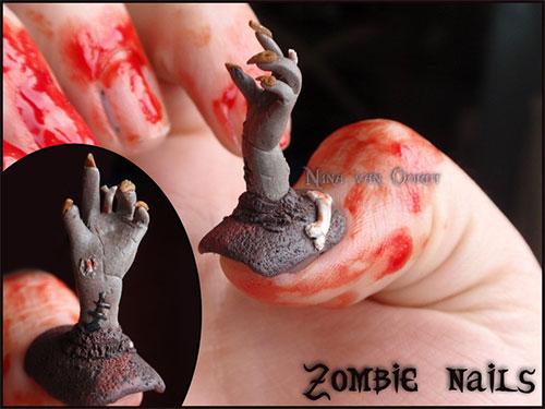 Scary Zombie Nails