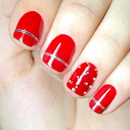 Red Nail Art 3