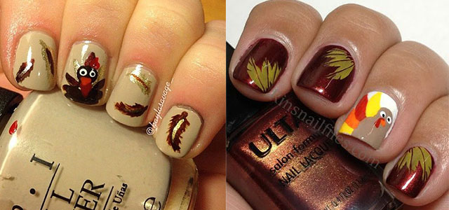 Creative Thanksgiving Nail Art Deigns Ideas 2017 Fabulous Designs