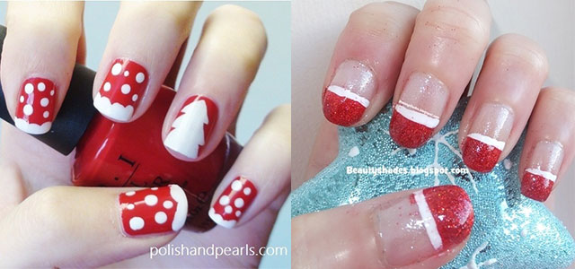 Easy Christmas Nail Art Designs Ideas 2017 X Mas Nails Fabulous