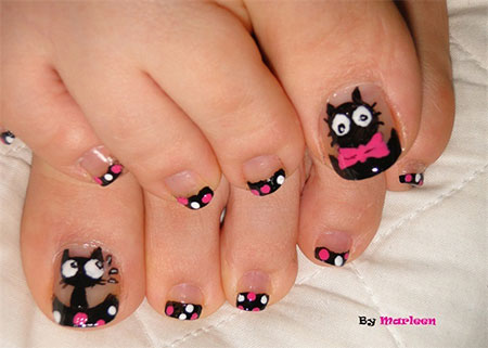 Grant Themed Toenail Art Design Make Use Of Pleasant Looking Colors Such As Pink