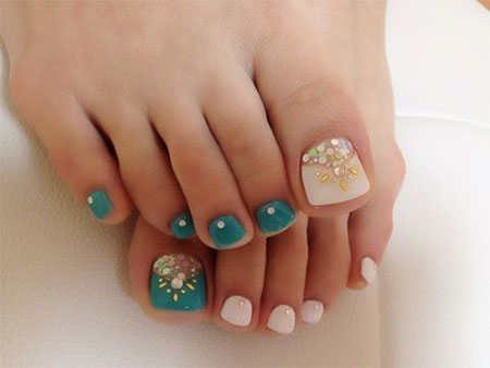 Easy Nail Art Designs For Toenails Five Star And Spa