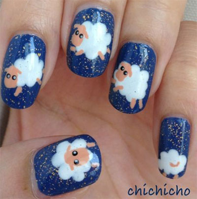 Cute Zoo Farm Animals Nail Art Designs Ideas