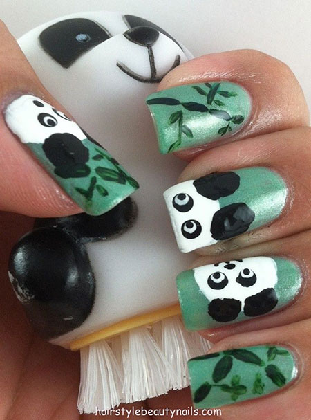Simple Panda Nail Art Designs Amp Ideas 2013 2014