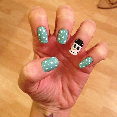 Very Easy Winter Nail Art Designs 2017