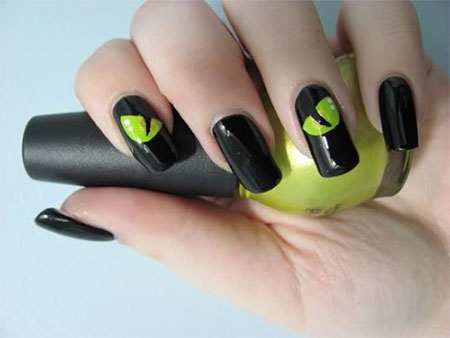 Black Cat Nail Art Tutorial For Step 5