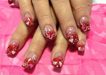 Inspiring Nail Art Designs Ideas For Valentines Day