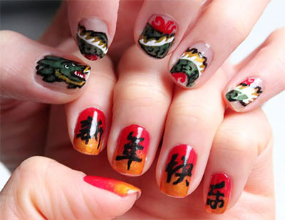 Bop244 247 Hot Colorful Fish Andbeautiful Flower Water Transfer Nail Sticker Spring Festival Style