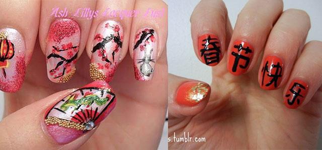 3d Chinese New Year Nail Art Design