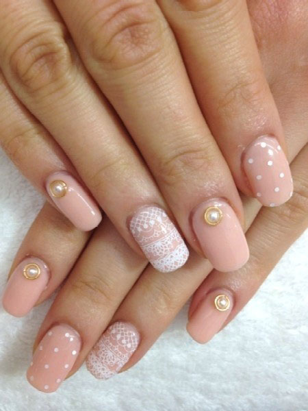 Inspirational Wedding Nail Art Design Ideas With Simple Accents