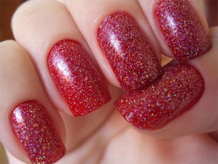 Beautiful Red Nail Art Design Idea