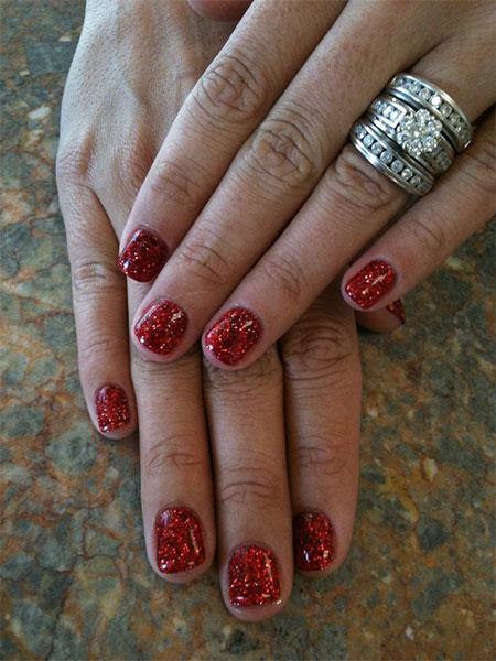 Simple Red Wedding Nail Art Designs Ideas 2016