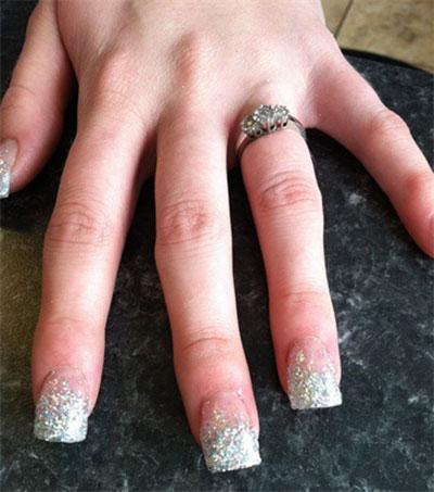 Smashing Glitter Wedding Nail Art Designs Ideas 2017