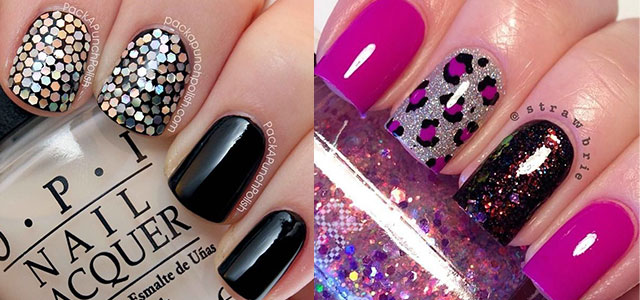 Acrylic Nail Designs Curves Ans Sequins