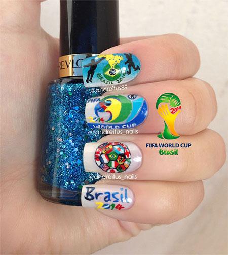 25 Fifa World Cup 2017 Brazil Nail Art