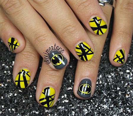 30 Easy Amp Simple Batman Nail Art Designs Ideas Trends
