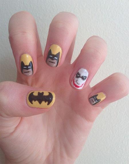 Bat Man Nail Art 13